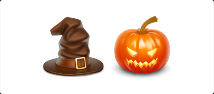 Halloween Icons - Pumpkin, Hat