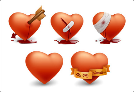 Valentine's Day Mac OS X icons