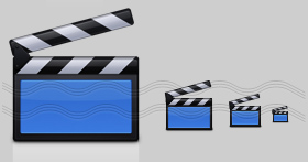 Clapperboard Icon, Movie