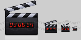 Clapperboard Icon, Movie time