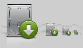 Hard Drive Download Icon