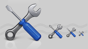 Screwdrive Wrench Icon, Tool